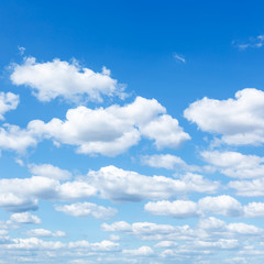 Canvas Prints Heaven many little white clouds in summer blue sky