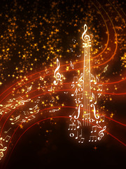 Violin with Sparks