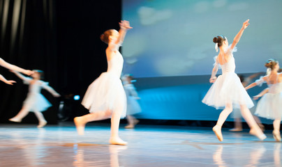Ballet performance in motion