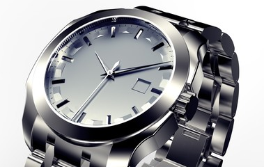 beautifull metal watch isolated on a background