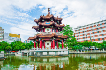 traditional building in a park in Taipei, Taiwan