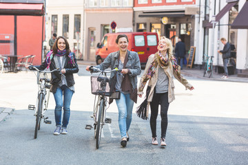 Group of women walking in Copenhagen