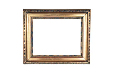 Dark gold design wood frame
