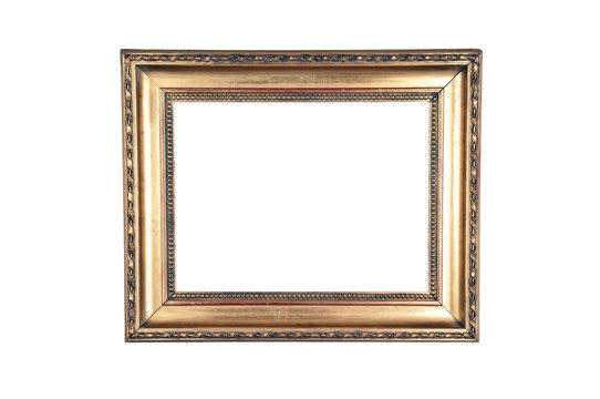 Dark gold design wood frame