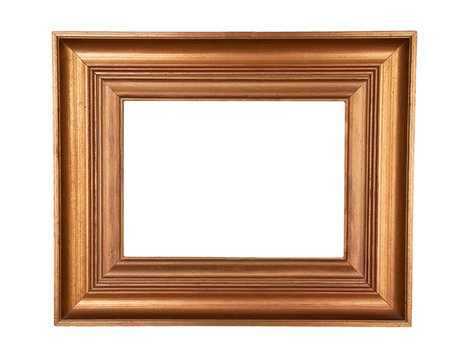 Gold wooden painting frame