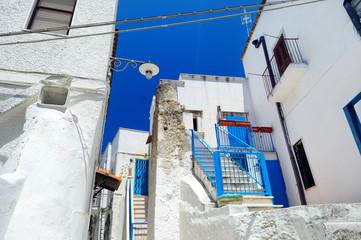 Picturesque narrow street of Peschici