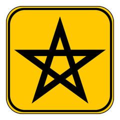 Pentagram button.