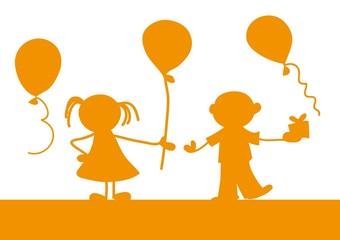 Obraz dzieci,tło,grafika,urodziny - fototapety do salonu