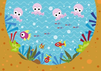 podwodny świat,ryby,rybki,meduzy,woda,pod wodą