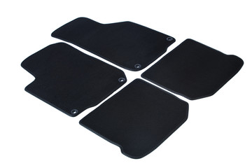Set of summer car mats on white background