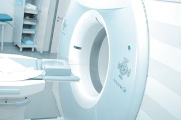MRI machine in modern hospital