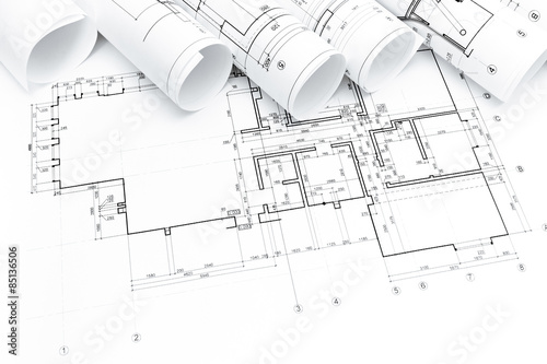 Architectural blueprints rolls stock photo and royalty free images architectural blueprints rolls malvernweather