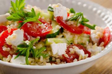 Gluten free vegetarian salad  with  feta.