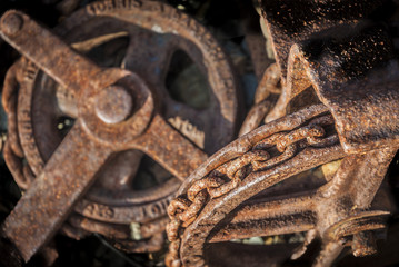Rusty Chain And Pulley