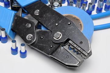 Tools for electricians crimpers and accessories