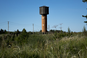 Water Tower. Water from underground sources.