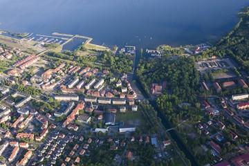 Aerial view of Gizycko