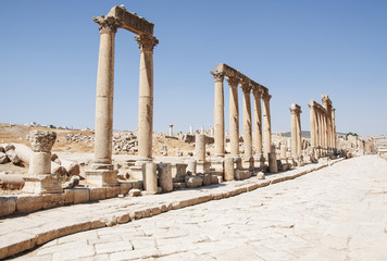 Ruins city of Jerash in Jordan