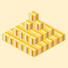 Пирамида из кубов