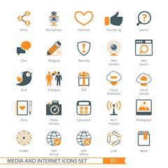 Social Media And Network Icons Set 01