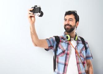 Tourist making a selfie