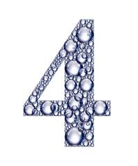 number four bubbles