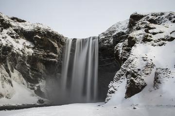 Frozen Waterfall, Iceland