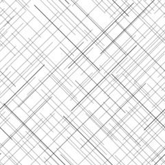 Monochrome seamless pattern. Diagonal random lines. Abstract texture.