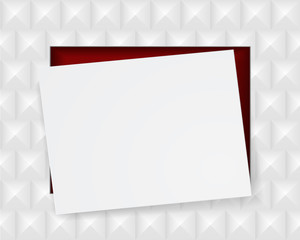 white paper sheet on geometric abstract background