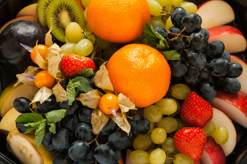 fresh sweet fruits and berrys