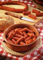 traditional Navarrese red sausage