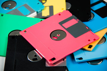 Floppy Disk magnetic is a background.