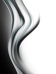 Awesome Black White Waves Design