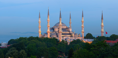 The Sultan Ahmed Mosque. Istanbul, Turkey