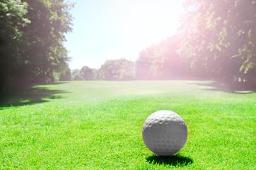 golf,golfball in selektiver schaerfe,golfplatz
