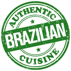 brazilian food and cuisine stamp