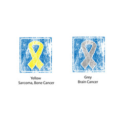 Cancer ribbons stamp vintage 6