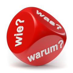 Obraz Wer Wie Was Würfel - fototapety do salonu