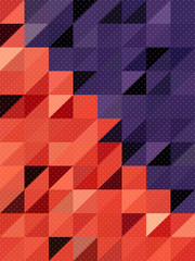 Cute dot texture on red and purple rectangles background
