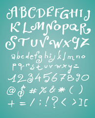 hand drawn calligraphic vector font
