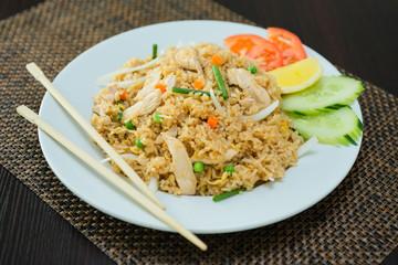 riz au poulet et légumes