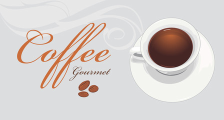 Coffee gourmet. Label for design