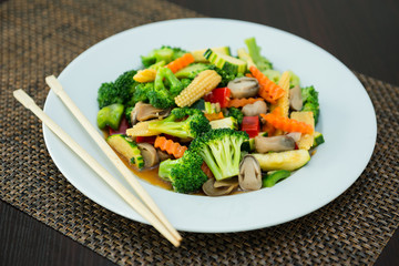 Asie de légumes vapeur