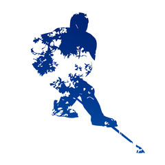 Abstract ice hockey player
