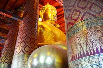 Big buddha of Wat Phanan Choeng  in Ayutthaya, Thailand