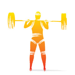 weight lifting player design vector