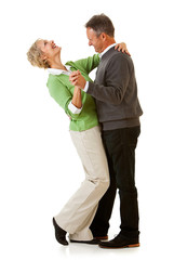Couple: Man and Woman Dancing Together