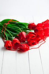 Flowers gift on table
