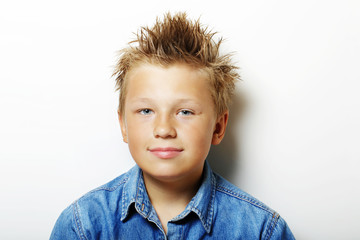 Portrait of blonde young teenager