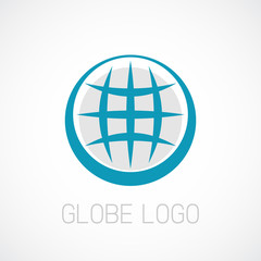 Globe logo template. Earth planet sign.